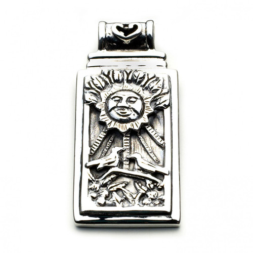 The Sun Tarot Card Pendant (Sterling Silver)