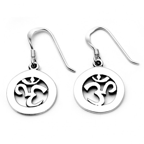 Om Symbol Earrings (Sterling Silver)