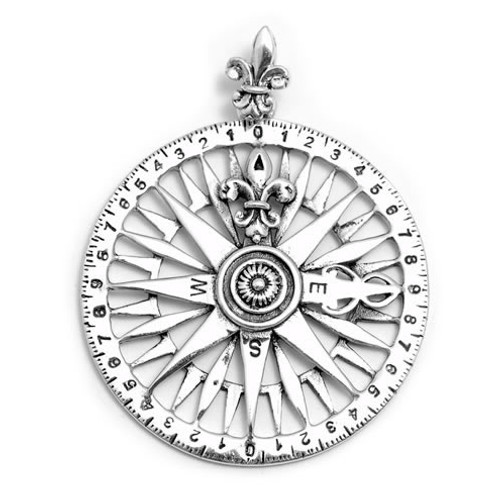 Compass Pendant (Sterling Silver)