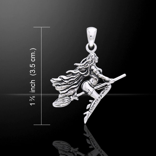 Sexy Witch Pendant (Sterling Silver)