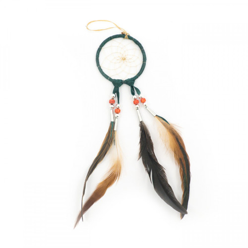 Small Green Navajo Dream Catcher (3 Inch)