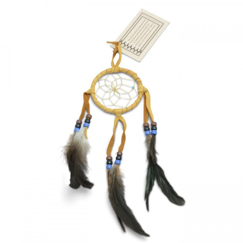 Small Light Tan Navajo Dream Catcher (3 inch)
