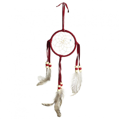 Small Red Navajo Dream Catcher (3 inch)