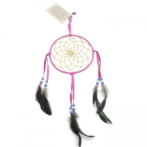 Large Pink Navajo Dream Catcher (6 inch)