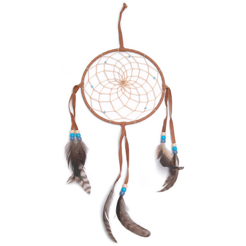 Large Dark Brown Navajo Dream Catcher (6 inch)