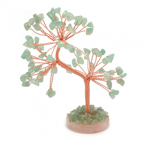 Gem Tree - Green Aventurine (Round Base)