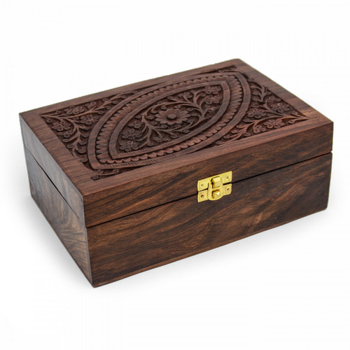 Ornate Wooden Aromatherapy Oil Box (24 oils)