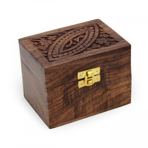 Ornate Wooden Aromatherapy Oil Box (6 oils)
