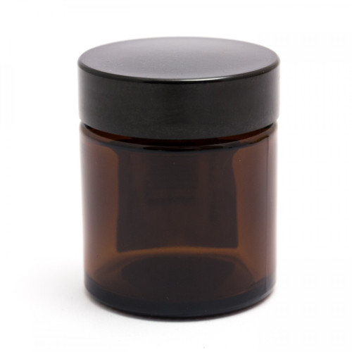 Amber Glass Jar with Lid