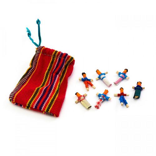 Assorted Mini Guatemalan Worry Dolls in Bag