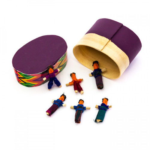 Assorted Mini Guatemalan Worry Dolls in Box
