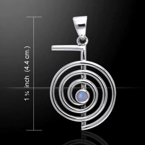 Cho Ku Rei Reiki Pendant with Moonstone (Sterling Silver)