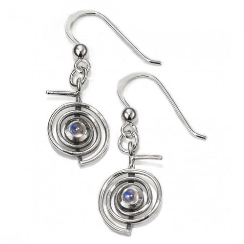 Cho Ku Rei Reiki Earrings with Moonstone (sterling silver)