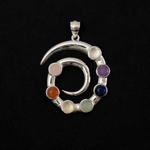 Chakra Whirlpool Pendant (Sterling Silver)