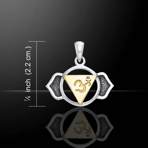 Third Eye Chakra Pendant (Clairvoyance) - Sterling Silver & Gold