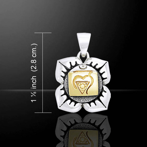 Base Chakra Pendant (Inner Stillness) - Sterling Silver & Gold