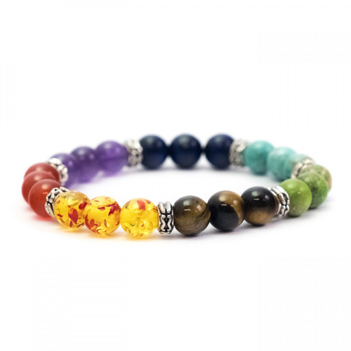 Chakra Crystal Bracelet (Mixed Beads)