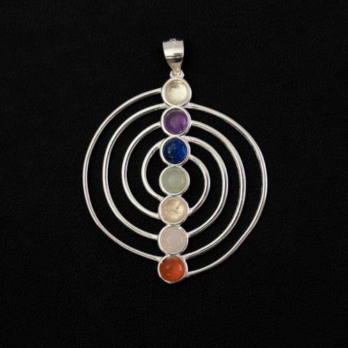 Sacred Chakra Spiral Pendant (Sterling Silver)