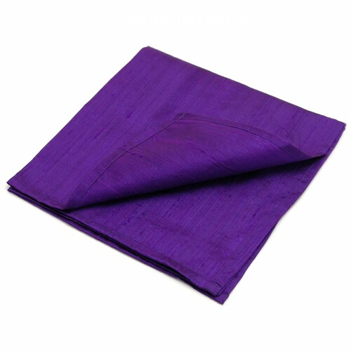 Purple 100% SILK Reading Cloth (48 x 48 cm)