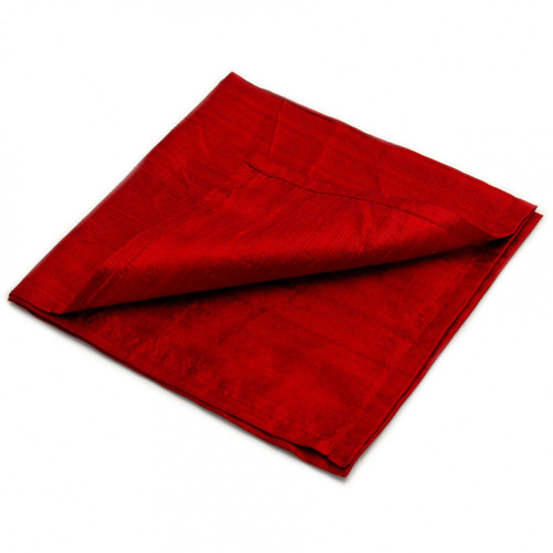 Large 100% SILK Reading Cloth - Deep Red  (48 x 48 cm)