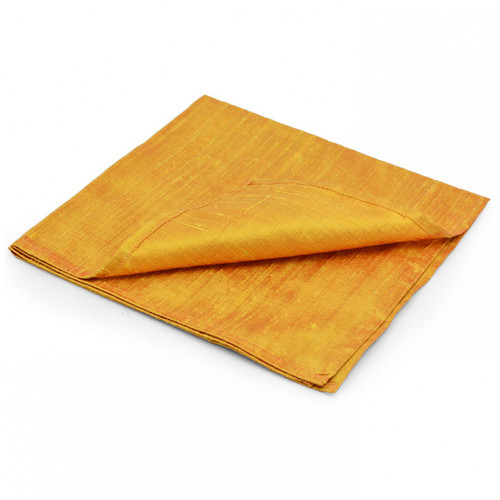 Large 100% SILK Reading Cloth - Yellow/Gold (48 x 48 cm)