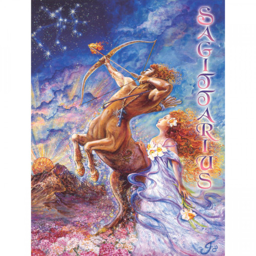 Sagittarius Greeting Card (November 23 - December 21) by Josephine Wall