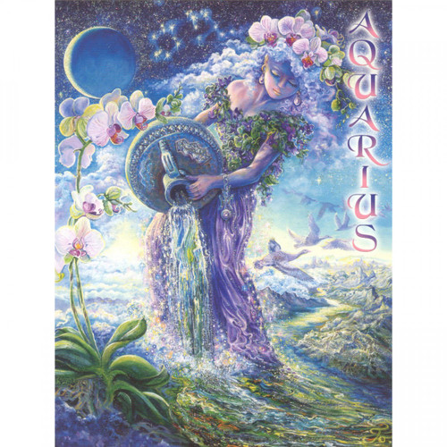 Aquarius Greeting Card (January 20 - February 18) by Josephine Wall