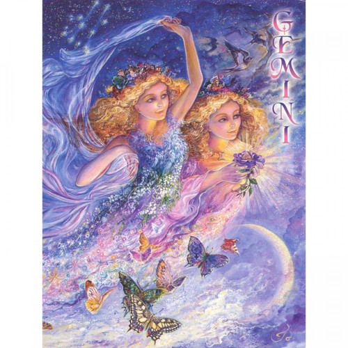 Gemini Greeting Card (May 22 - June 21) by Josephine Wall
