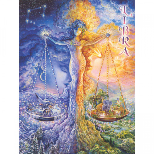 Libra Greeting Card (September 23 - October 23) by Josephine Wall