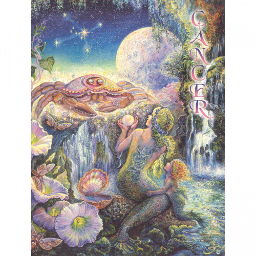 Cancer Greeting Card (June 22 - July 22) by Josephine Wall
