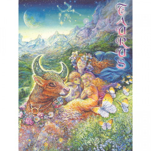 Taurus Greeting Card (April 21 - May 21) by Josephine Wall