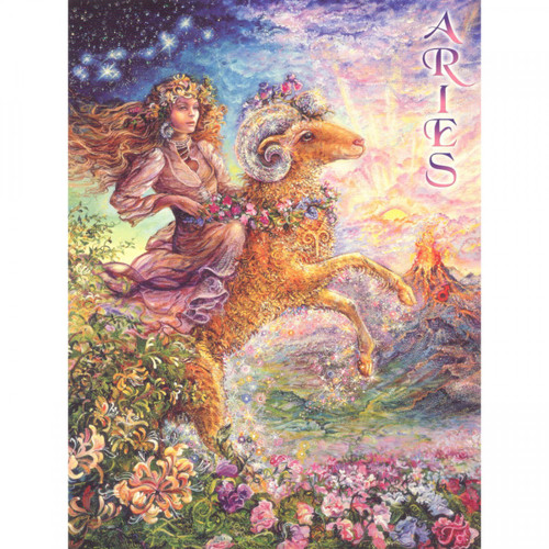 Aries Greeting Card (March 21 - April 20) by Josephine Wall