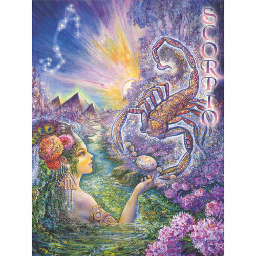 Scorpio Greeting Card (October 24 - November 22) by Josephine Wall