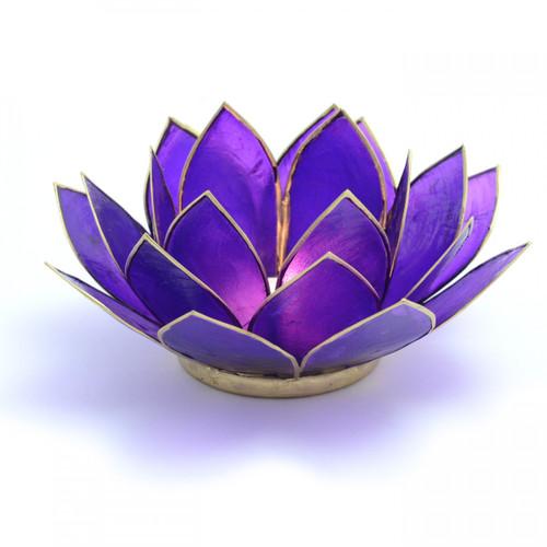 Purple Lotus Flower Tea Light Holder (Crown Chakra)