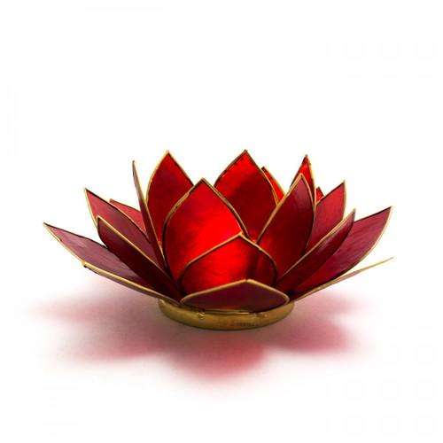 Red Lotus Flower Tea Light Holder (Root Chakra)