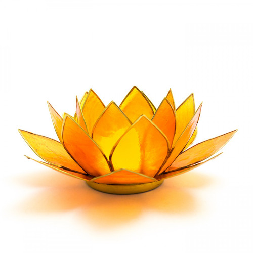 Orange Lotus Flower Tea Light Holder (Sacral Chakra)