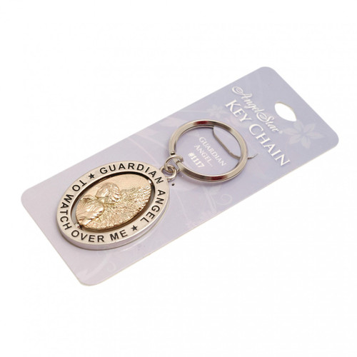 Guardian Angel Spinner Keyring