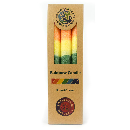 Rainbow Dinner Candles Unscented (Set of 3)