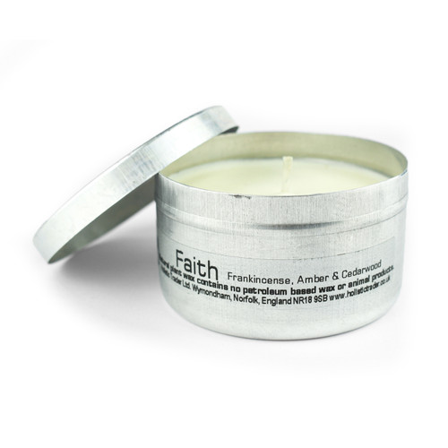Faith - Travel Tin Aromatherapy Candle (15-20 Hours)