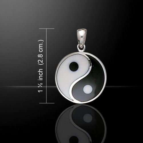Large Yin Yang Pendant (Sterling Silver)