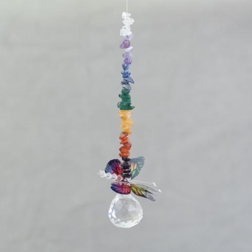 Rainbow Butterfly Lead Crystal Ball (Mini)