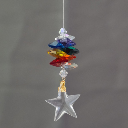 Lead Crystal Star with Chakra Cascade