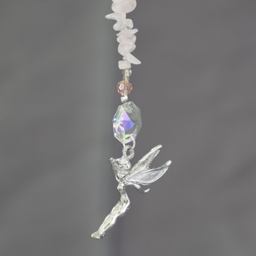 Tinkerbell with Rose Quartz and Lead Crystal