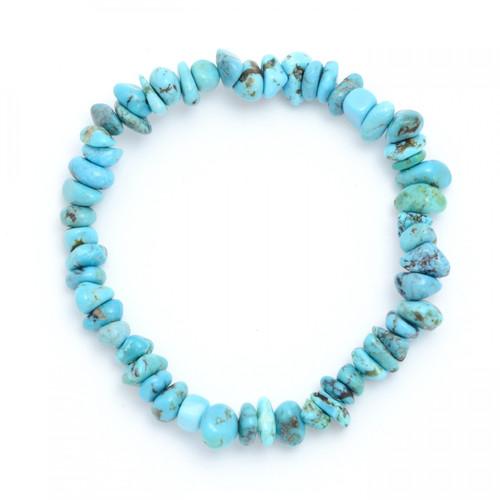 Turquoise Crystal Chip Bracelet