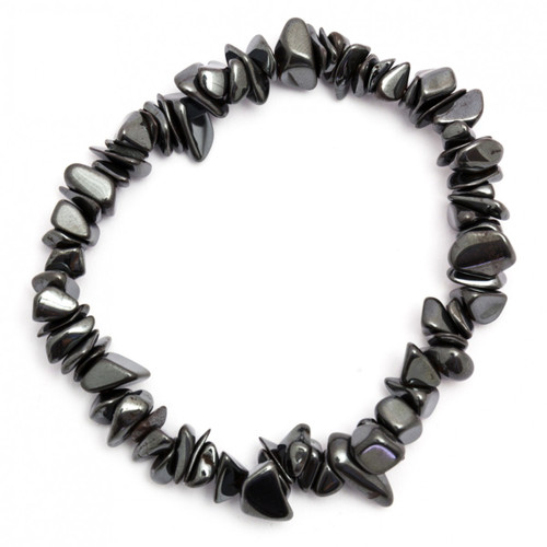 Hematite Crystal Chip Bracelet