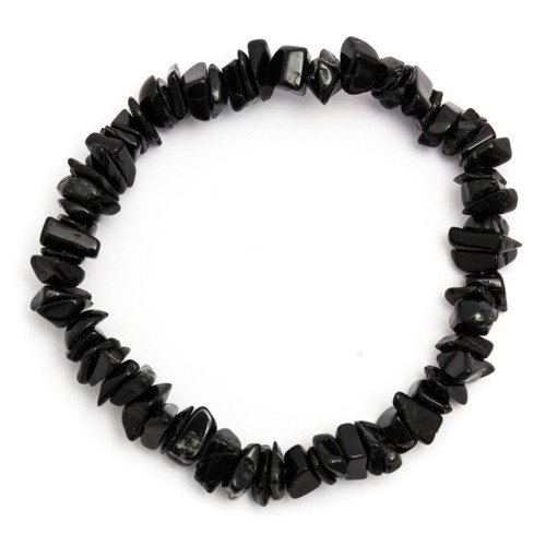 Black Tourmaline Crystal Chip Bracelet
