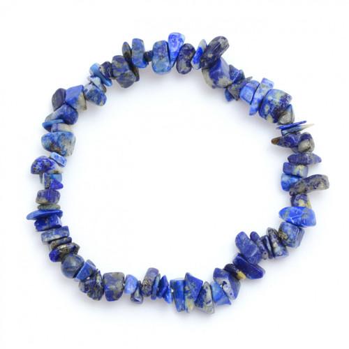 Lapis Lazuli Crystal Chip Bracelet