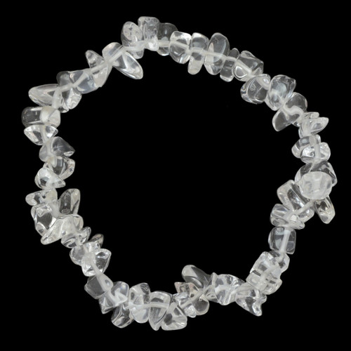 Clear Quartz Crystal Chip Bracelet