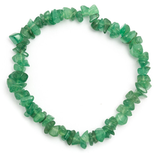 Green Aventurine Crystal Chip Bracelet
