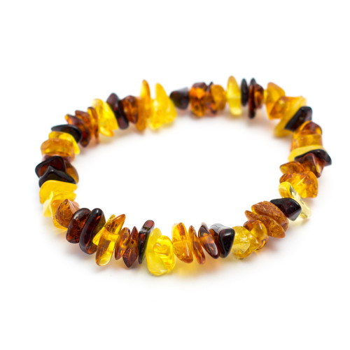 Light Mix Baltic Amber Chip Bracelet